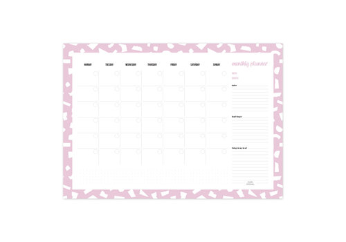 Studio Stationery A3 Monthly planner Confetti Lila