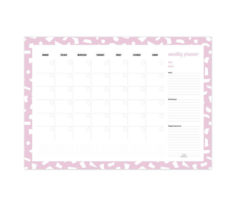 A3 Monthly planner Confetti Lila