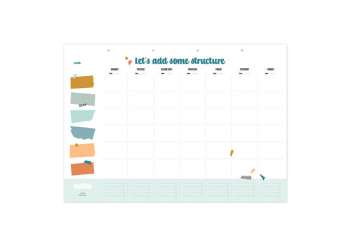 Studio Stationery Activity planner Let's add some structure
