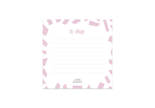 Studio Stationery Mini To Shop Pink Confetti