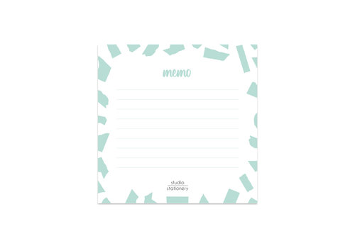 Studio Stationery Mini Memo Mint Confetti