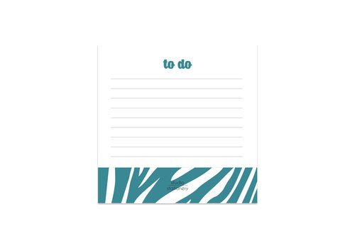 Studio Stationery Mini To Do Petrol Zebra