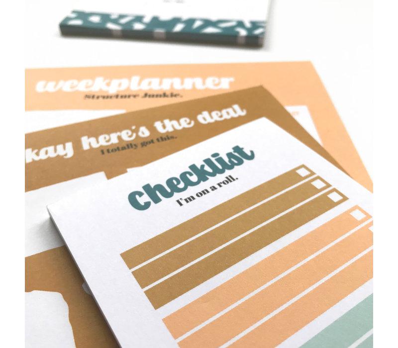 Checklist Noteblock I'm on a roll - Multicolor