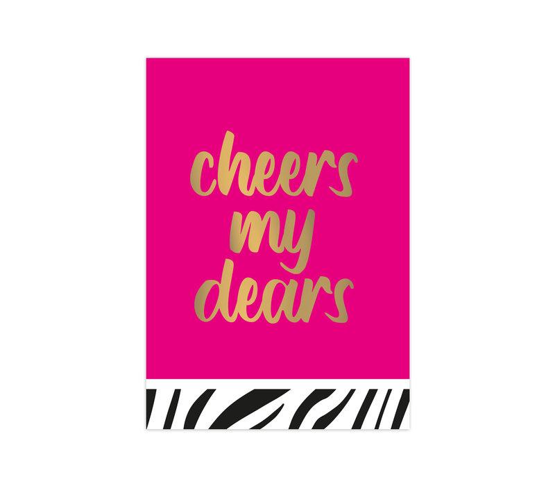 Kaart Cheers my dears