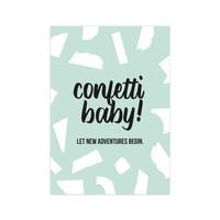Kaart Confetti Baby