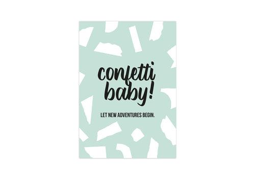 Studio Stationery Card Confetti Baby