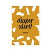Studio Stationery Kaart Diaper Alert
