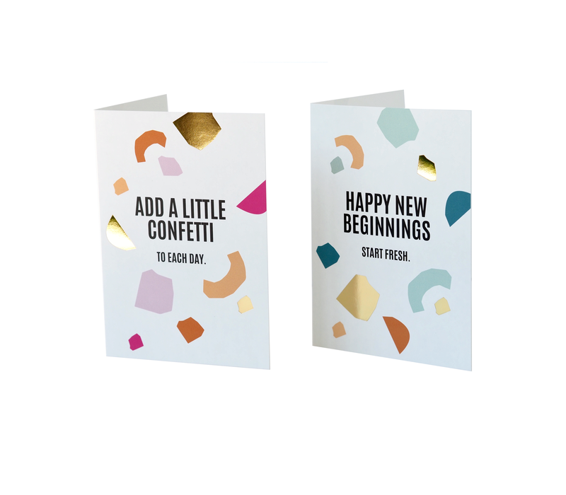 Greeting card Add a little confetti