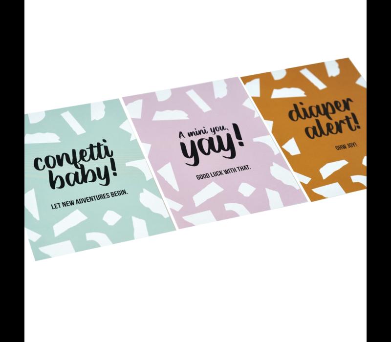 Card Confetti Baby