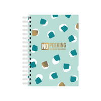 A6 Notebook No Peeking - Password organizer