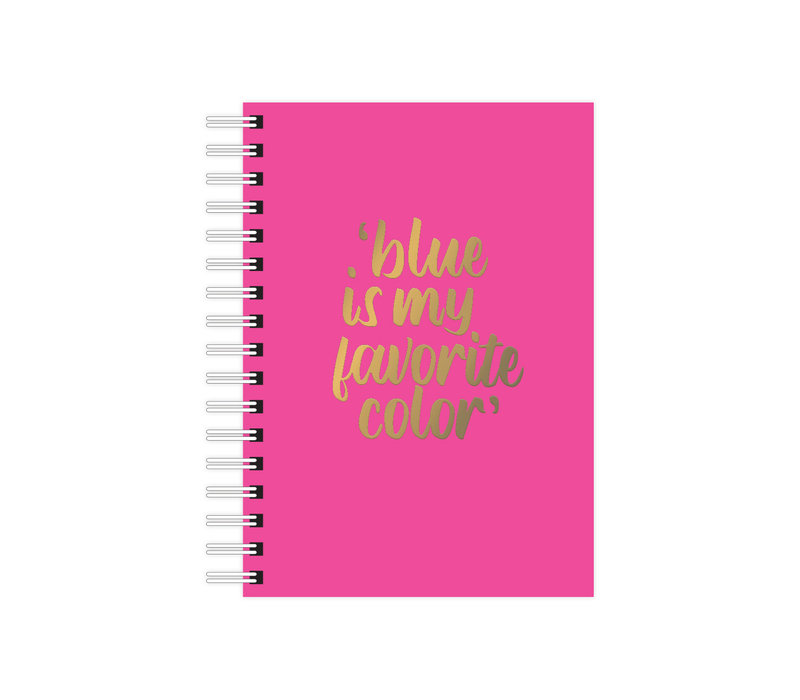 A6 Notebook Blue is my Favorite Color