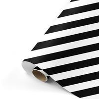 Gift wrap Bold Lines black/white 70x200 cm