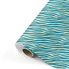 Studio Stationery Gift wrap Zebra petrol/mint 70x200 cm