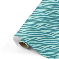 Gift wrap Zebra petrol/mint 70x200 cm