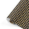 Studio Stationery Gift wrap Dots black/gold 70x200 cm