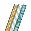 Studio Stationery 3-pack gift wrap Ocher Mint 70x200 cm