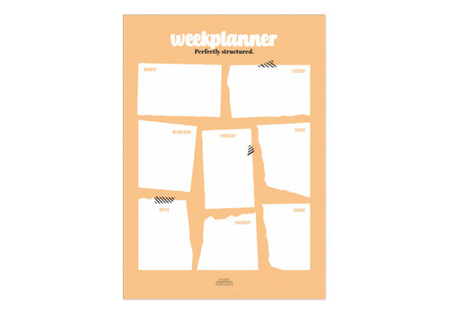 Studio Stationery A4 Noteblock weekplanner Perfectly Structured