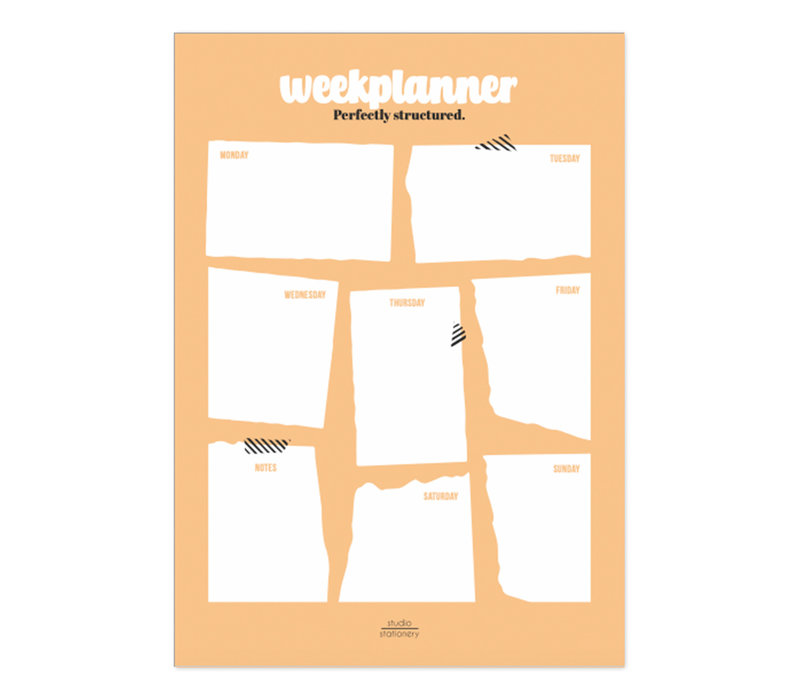 A4 Noteblock weekplanner Perfectly Structured