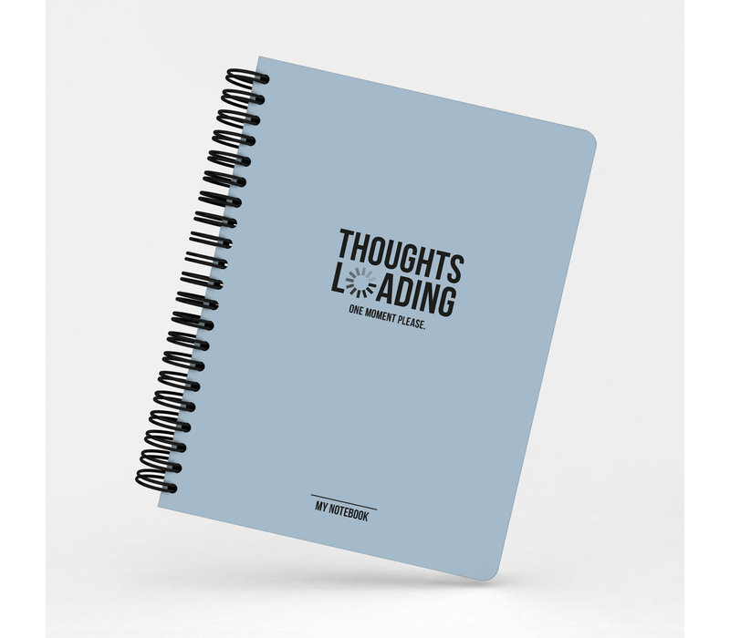 My Blue Notebook Thoughts Loading