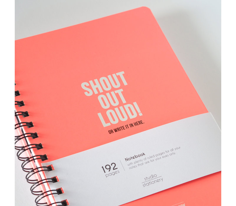 My Pink Notebook Shout out loud