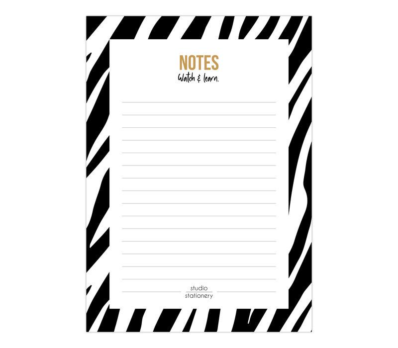 A6 Noteblock Notes zebra black & white