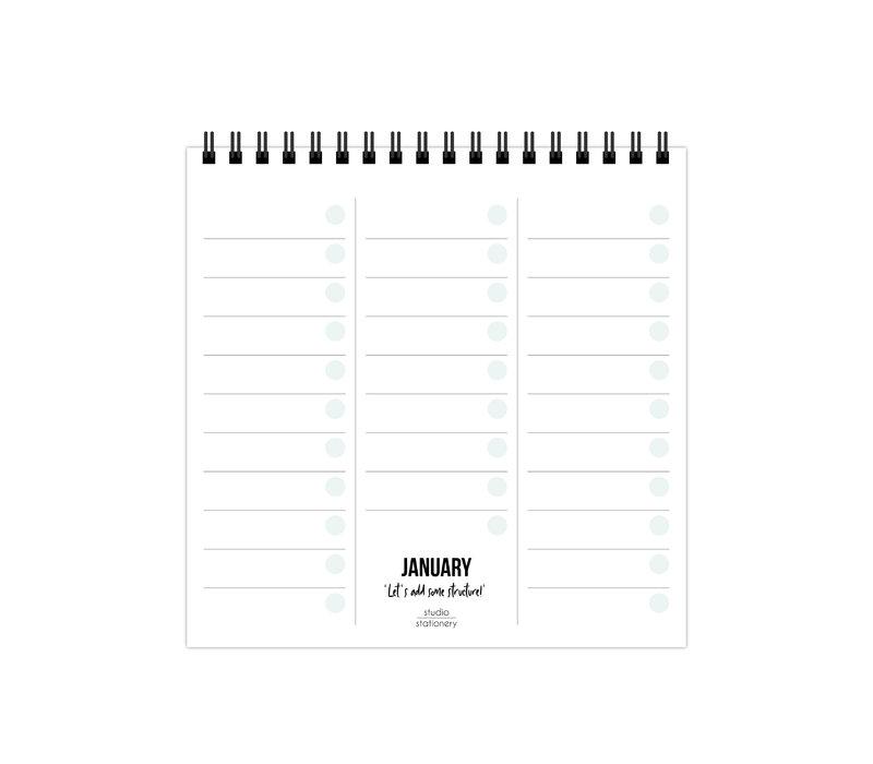 Monthly plan desk calendar