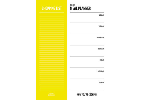 Studio Stationery Meal planner Yellow