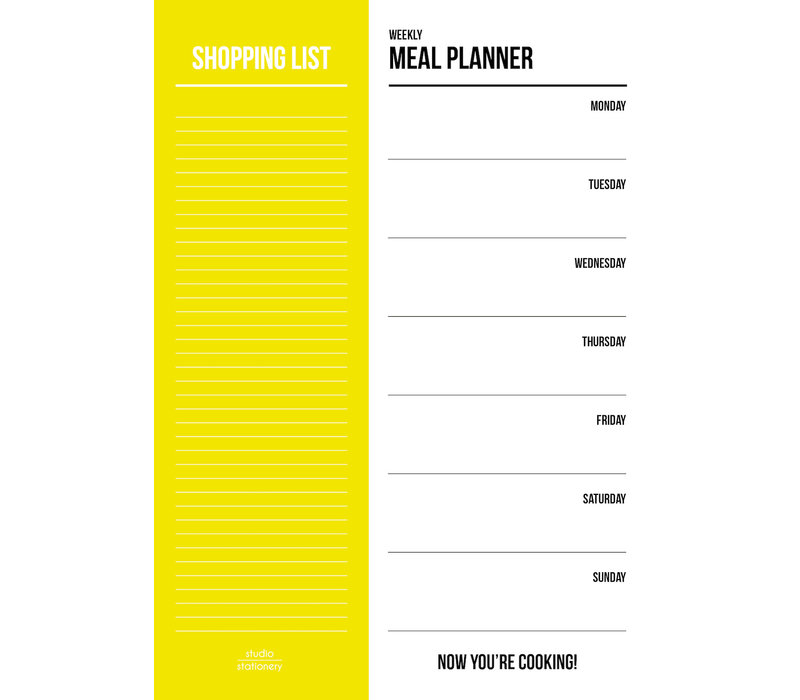 Meal planner Yellow