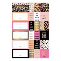 Stickersheets Pink & Gold set 3 sheets
