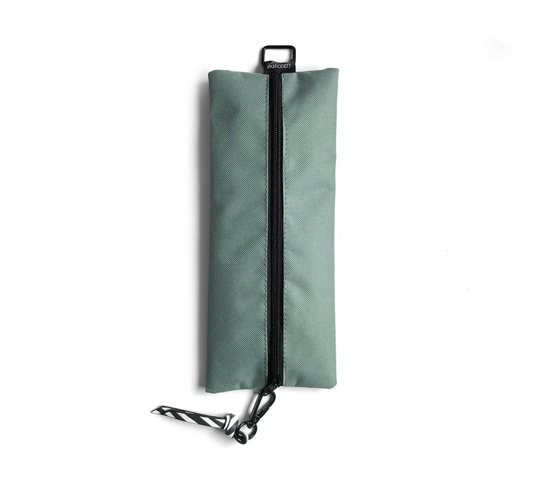Pencil Bag sage & leaves