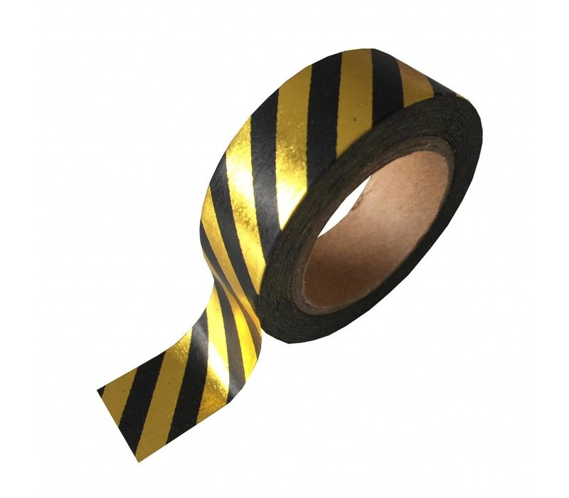 Washi tape  black/gold stripe