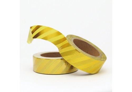 Studio Stationery Washi tape Yellow/gold Stripe