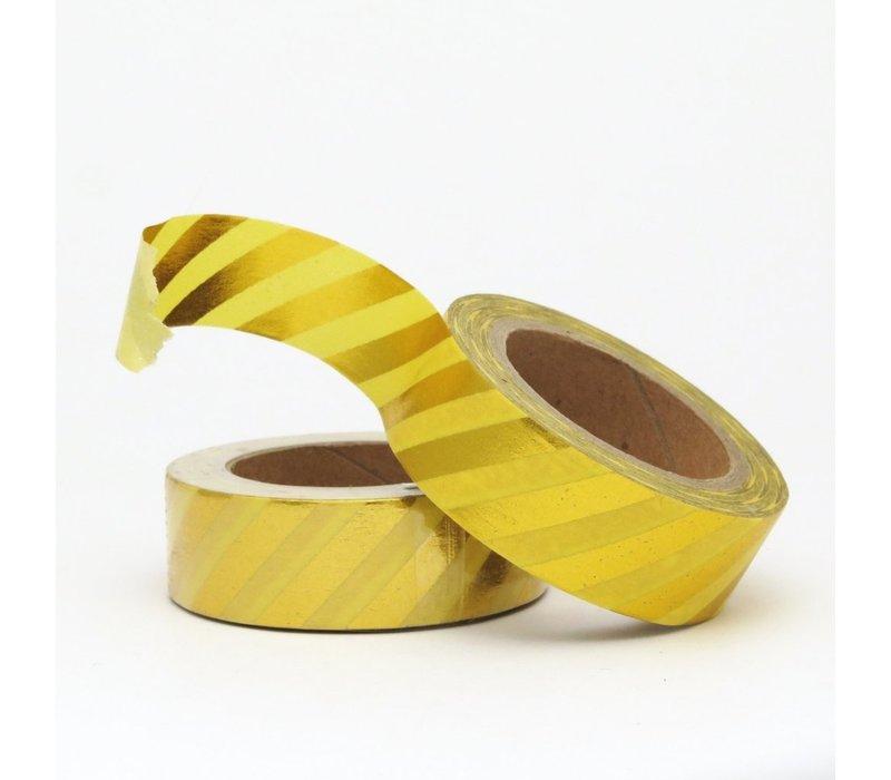 Washi tape Yellow/gold Stripe
