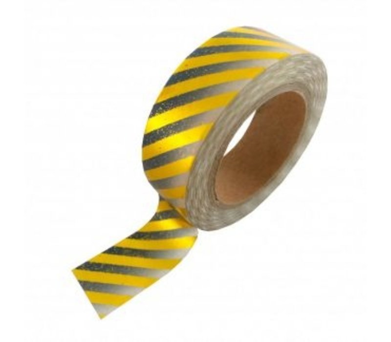 Washi tape Gold foil gradient black