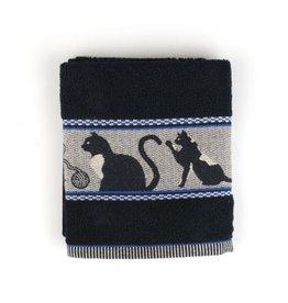 Bunzlau Castle Handdoek katten zwart