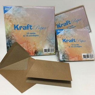 Kraftpapier mit Umschlägen