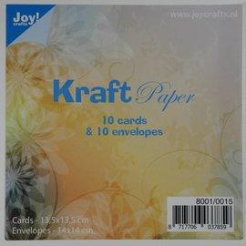 Kraftpapier mit Umschlage - 14x14cm - 8001/0015