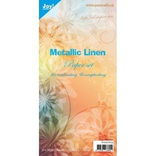 Papierset Metallic Linnen
