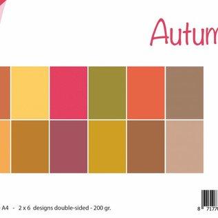 Papierset  uni - Herbst
