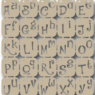 Scrap Polybesastencil - Alphabet