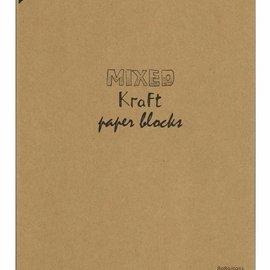 Kraftpapierblock gemischt A4 8089/0253