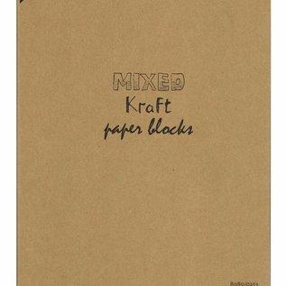 Kraftpapierblock gemischt A4