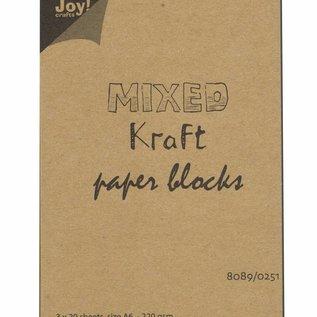 Kraftpapierblock gemischt A6