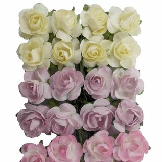 Artificial Flower - Roses l.yellow/lilac/pink