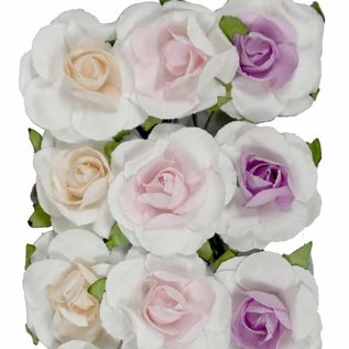 Artificial Flower - Roses kern salmon/pink/lilac