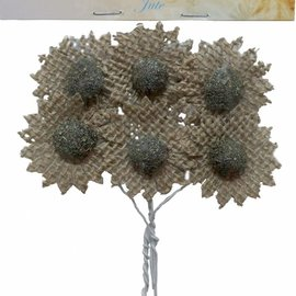 Burlap Flowers brown
