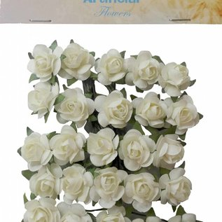 Artificial Flowers - Small roses ivory