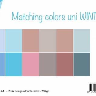Papierset - Matching Colors Uni - Winter