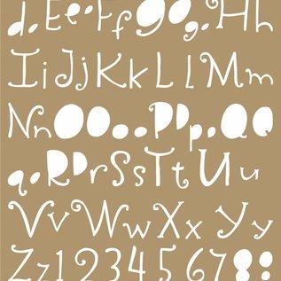 Polybesa Mask Schablone - Lettering
