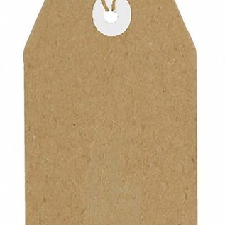 Kraftpapier Tags 80x40 mm  8089/0263